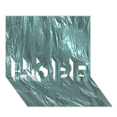 Crumpled Foil Teal HOPE 3D Greeting Card (7x5)