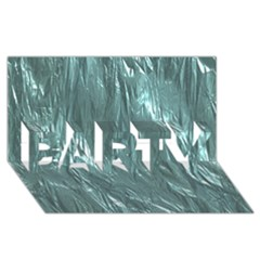 Crumpled Foil Teal Party 3d Greeting Card (8x4)