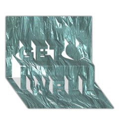 Crumpled Foil Teal Get Well 3D Greeting Card (7x5)