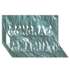 Crumpled Foil Teal Congrats Graduate 3D Greeting Card (8x4)