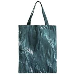 Crumpled Foil Teal Zipper Classic Tote Bags