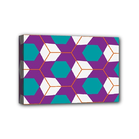 Cubes In Honeycomb Pattern Mini Canvas 6  X 4  (stretched)