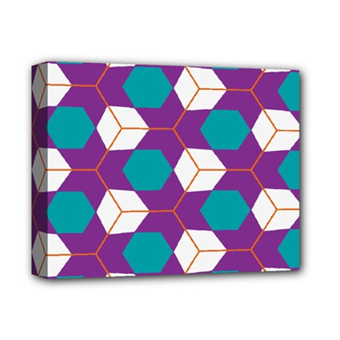 Cubes in honeycomb pattern Deluxe Canvas 14  x 11  (Stretched)