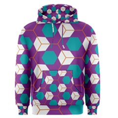 Cubes in honeycomb pattern Men s Pullover Hoodie