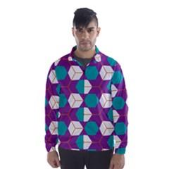 Cubes in honeycomb pattern Wind Breaker (Men)
