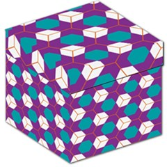 Cubes In Honeycomb Pattern Storage Stool