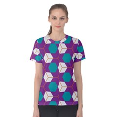 Cubes in honeycomb pattern Women s Cotton Tee