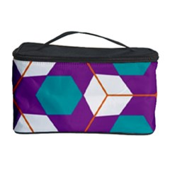 Cubes in honeycomb pattern Cosmetic Storage Case