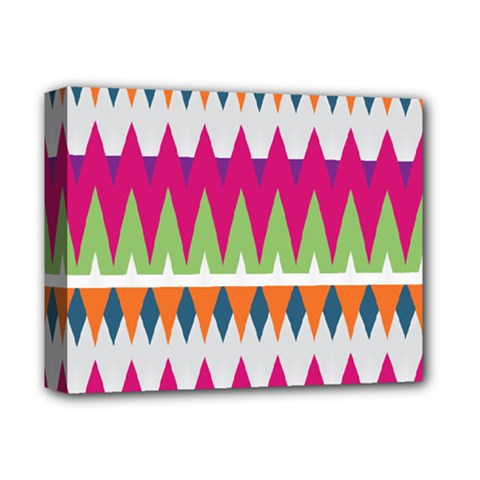 Chevron pattern Deluxe Canvas 14  x 11  (Stretched)