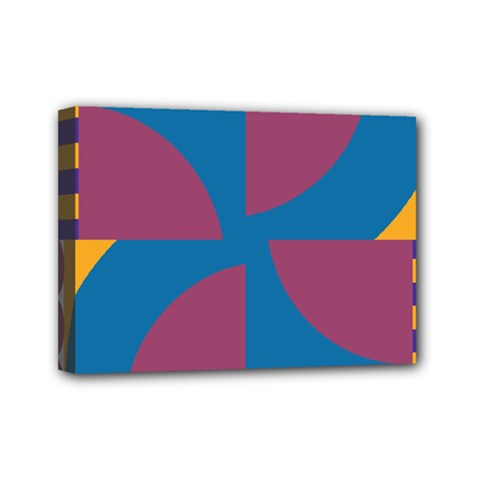 Blue Flower Mini Canvas 7  X 5  (stretched)