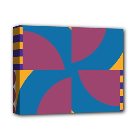 Blue flower Deluxe Canvas 14  x 11  (Stretched)