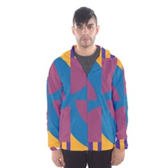 Blue flower Mesh Lined Wind Breaker (Men)