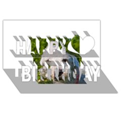 Bedlington Terrier Happy Birthday 3D Greeting Card (8x4)