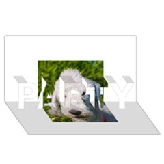 Bedlington Terrier PARTY 3D Greeting Card (8x4)