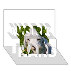 Bedlington Terrier WORK HARD 3D Greeting Card (7x5)