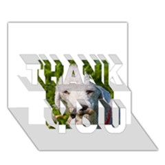 Bedlington Terrier THANK YOU 3D Greeting Card (7x5)