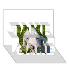 Bedlington Terrier TAKE CARE 3D Greeting Card (7x5)