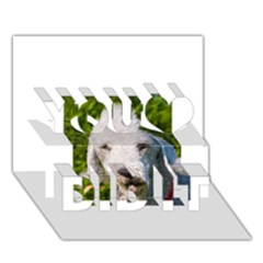 Bedlington Terrier You Did It 3D Greeting Card (7x5)