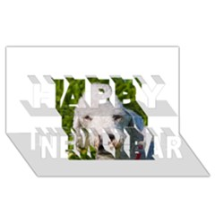 Bedlington Terrier Happy New Year 3D Greeting Card (8x4)