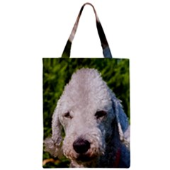 Bedlington Terrier Zipper Classic Tote Bags