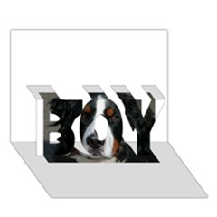 Bernese Mountain Dog BOY 3D Greeting Card (7x5)