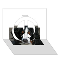 Bernese Mountain Dog Peace Sign 3D Greeting Card (7x5)