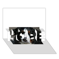 Bernese Mountain Dog HOPE 3D Greeting Card (7x5)