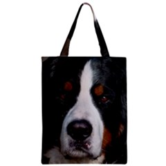 Bernese Mountain Dog Zipper Classic Tote Bags