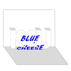 Blue Cheese I Love You 3D Greeting Card (7x5)