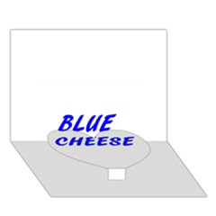 Blue Cheese Heart Bottom 3D Greeting Card (7x5)