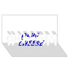 Blue Cheese #1 MOM 3D Greeting Cards (8x4)