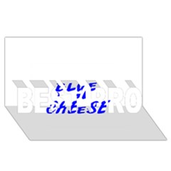 Blue Cheese BEST BRO 3D Greeting Card (8x4)