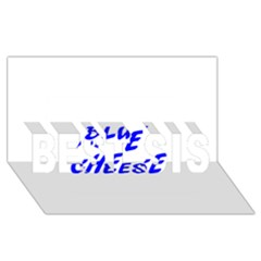 Blue Cheese BEST SIS 3D Greeting Card (8x4)
