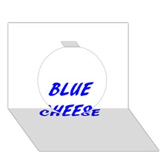 Blue Cheese Circle 3D Greeting Card (7x5)