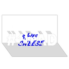 Blue Cheese #1 DAD 3D Greeting Card (8x4)