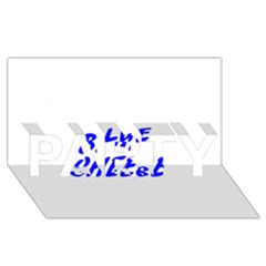 Blue Cheese PARTY 3D Greeting Card (8x4)