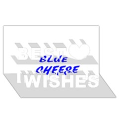 Blue Cheese Best Wish 3D Greeting Card (8x4)