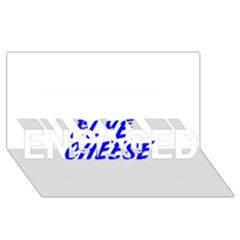 Blue Cheese ENGAGED 3D Greeting Card (8x4)