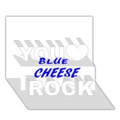 Blue Cheese You Rock 3D Greeting Card (7x5)