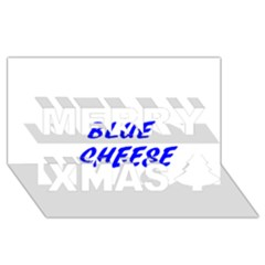 Blue Cheese Merry Xmas 3D Greeting Card (8x4)