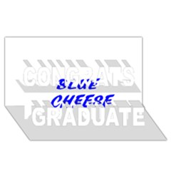 Blue Cheese Congrats Graduate 3D Greeting Card (8x4)