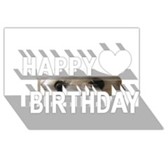 Bolognese Eyes Happy Birthday 3D Greeting Card (8x4)