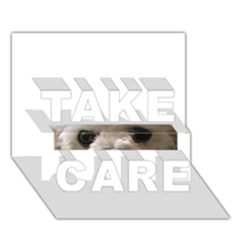 Bolognese Eyes TAKE CARE 3D Greeting Card (7x5)