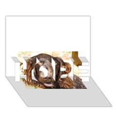 Boykin Spaniel HOPE 3D Greeting Card (7x5)