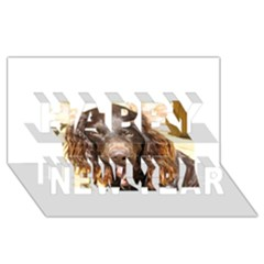 Boykin Spaniel Happy New Year 3D Greeting Card (8x4)
