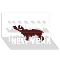 Boykin Spaniel Happy New Year 3D Greeting Card (8x4)