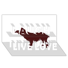 Boykin Spaniel Laugh Live Love 3D Greeting Card (8x4)
