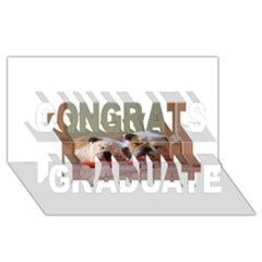 2 Sleeping Bulldogs Congrats Graduate 3D Greeting Card (8x4)
