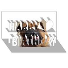 Bullmastiff Happy Birthday 3D Greeting Card (8x4)