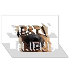 Bullmastiff Best Friends 3D Greeting Card (8x4)